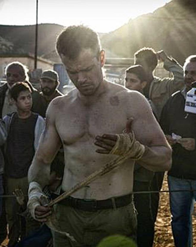Matt Damon tap luyen cho Jason Bourne anh 1