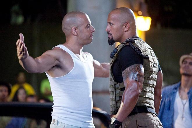 Phia sau vu cai va giua Vin Diesel va The Rock hinh anh