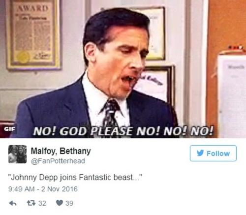 Fan the gioi phu thuy phan ung trai nguoc ve Johnny Depp hinh anh 1
