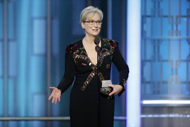 Donald Trump dau khau Meryl Streep anh 1