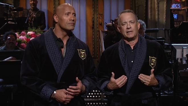 The Rock dua rang se tranh cu Tong thong My voi pho tuong Tom Hanks hinh anh 1