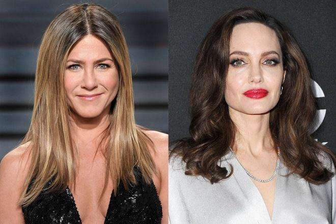 Angelina Jolie, Jennifer Aniston cung xuat hien tai Qua cau vang 2018 hinh anh