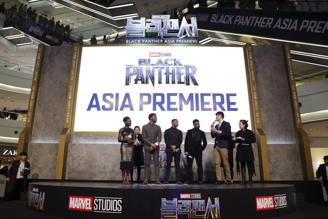 Su kien tham do ra mat bo phim 'Black Panther' tai Han Quoc hinh anh