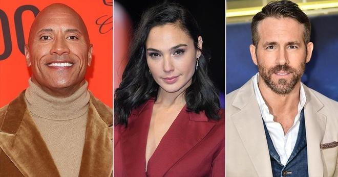 The Rock, Gal Gadot, Ryan Reynolds nhan thu lao khung khi dong chung hinh anh 1