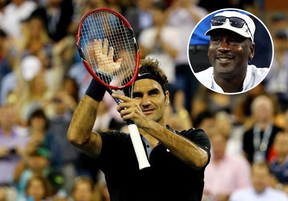 Michael Jordan bat cuoi vi pha bong sieu dang cua Federer hinh anh