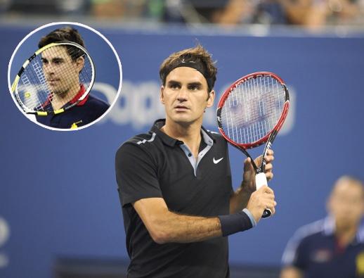 Federer vo tinh vut bong trung nguoi ball boy hinh anh