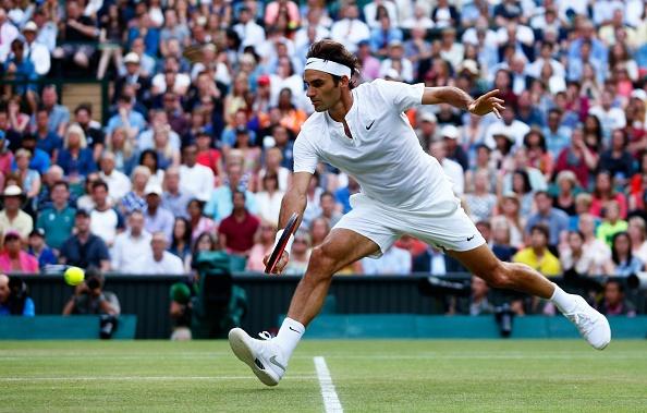 Vong 4 Wimbledon 2015: Roger Federer 3-0 Roberto Bautista Agut hinh anh