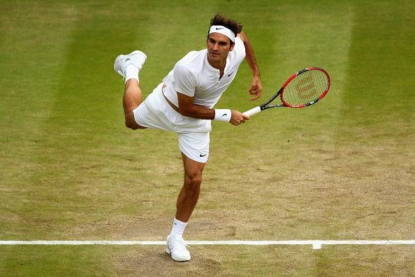 Tu ket Wimbledon 2015: Roger Federer 3-0 Gilles Simon hinh anh