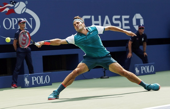 Vong 1 US Open 2015: Federer 3-0 Mayer hinh anh