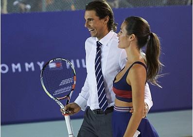 Nadal vui ve danh cap voi ban gai cu cua Puyol hinh anh