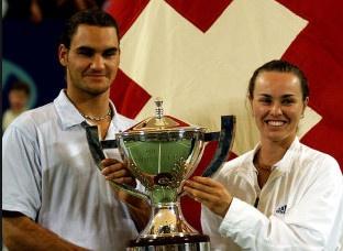 Federer danh cap voi Hingis tai Olympic Rio hinh anh