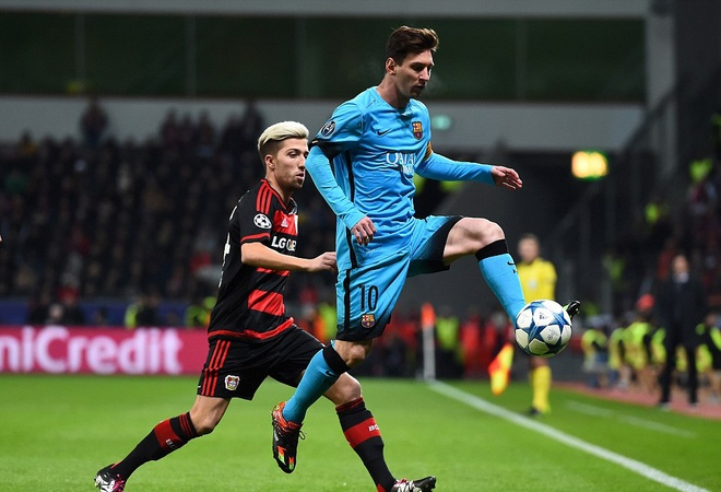 Messi ghi ban, Barca van khong thang Leverkusen hinh anh 1