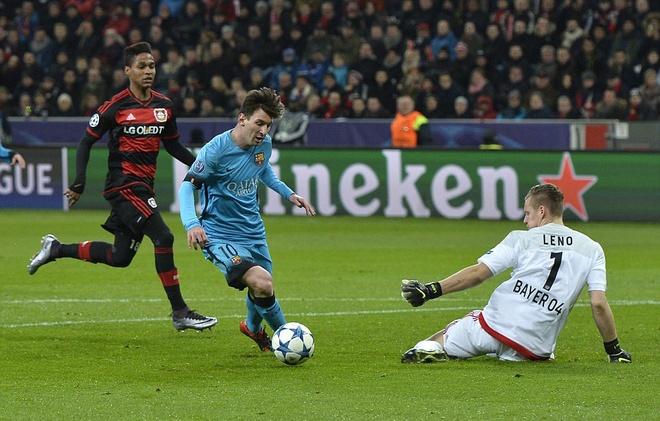 Messi ghi ban, Barca van khong thang Leverkusen hinh anh 2