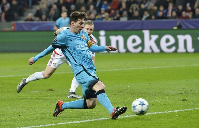 Messi ghi ban, Barca van khong thang Leverkusen hinh anh 3