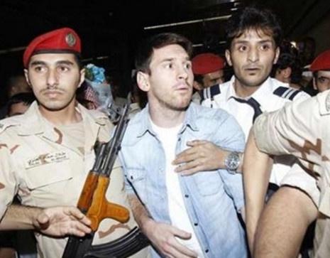 Canh sat bi bo tu vi dang ho chieu cua Messi hinh anh