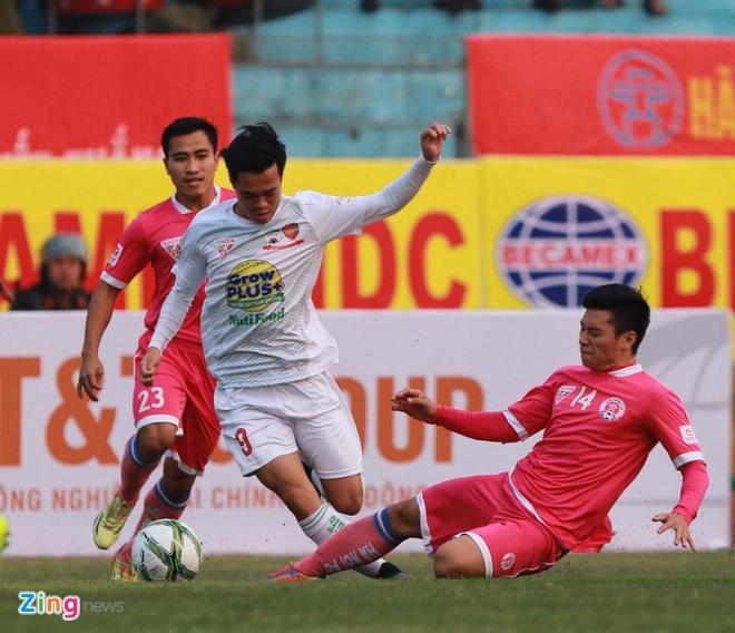 Thang Ha Noi 5-0, HAGL dan dau V.League hinh anh 5