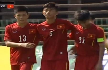 Thang dam Singapore, U16 Viet Nam hien ngang vao ban ket hinh anh