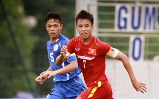 Thang dam Singapore, U16 Viet Nam hien ngang vao ban ket hinh anh 1