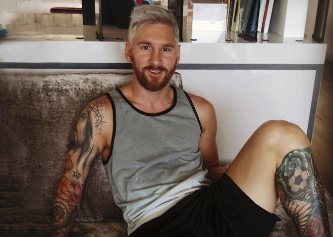 Messi trinh lang kieu toc bach kim hinh anh