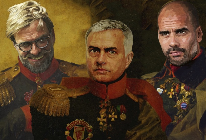 Mourinho, Klopp, Pep trong hinh hai cac vi chien tuong hinh anh