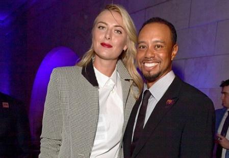 Sharapova sanh vai Tiger Woods o tiec tu thien hinh anh
