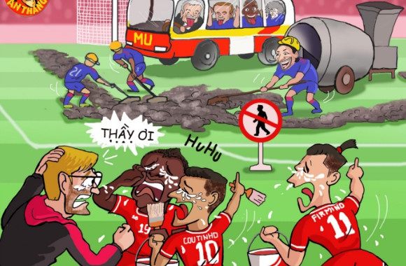 Hi hoa Mourinho dung xe bus, gia cuop doa Guardiola hinh anh
