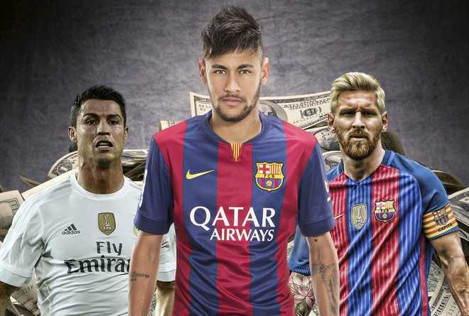 Vuot Ronaldo va Messi, Neymar dat gia nhat the gioi hinh anh