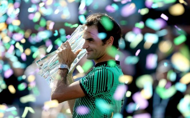 Thang thuyet phuc Wawrinka, Federer vo dich Indian Wells hinh anh