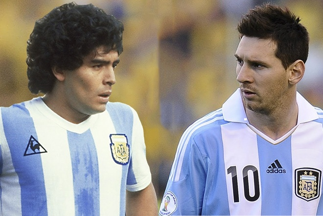 Maradona khong hai long khi Messi bi phat nhe hinh anh