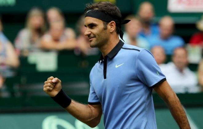 Federer ha guc nha vo dich de vao ban ket Halle Open hinh anh