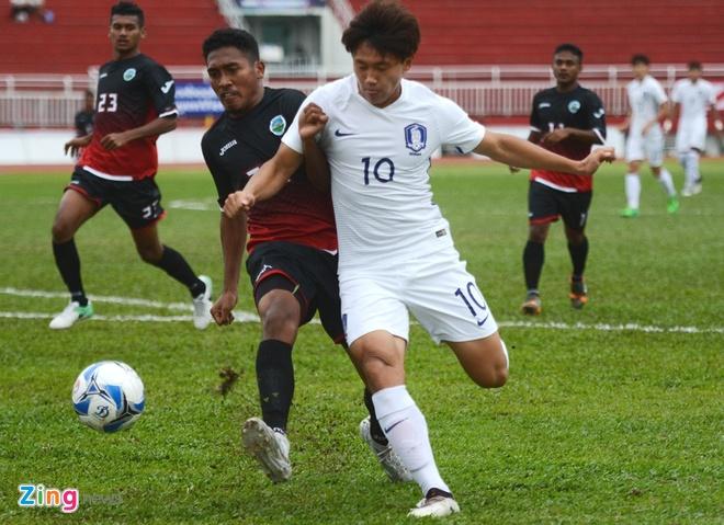 U22 Han Quoc 0-0 U22 Dong Timor: HLV Huu Thang mim cuoi hinh anh 7