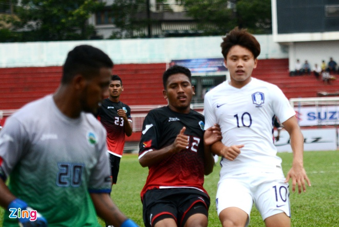 U22 Han Quoc 0-0 U22 Dong Timor: HLV Huu Thang mim cuoi hinh anh 11