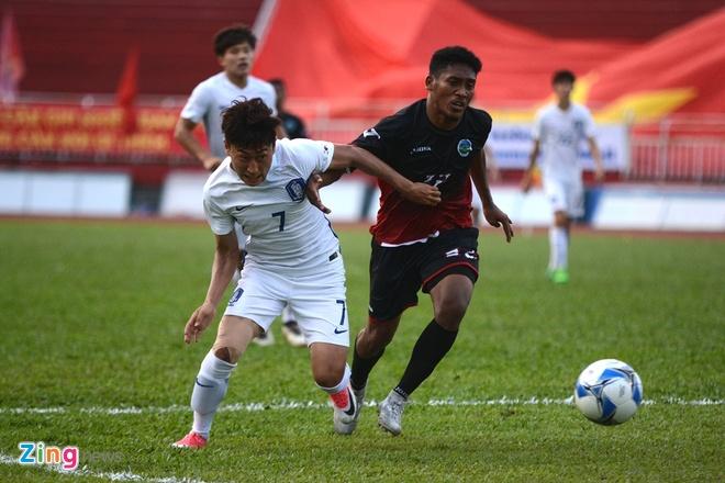 U22 Han Quoc 0-0 U22 Dong Timor: HLV Huu Thang mim cuoi hinh anh 12