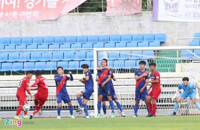 Busan FC vs U22 Viet Nam (1-6): Cong Phuong lap cu dup hinh anh 9
