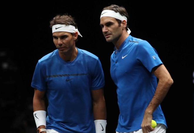 Federer, Nadal thang nhoc nhan trong lan dau danh cap hinh anh