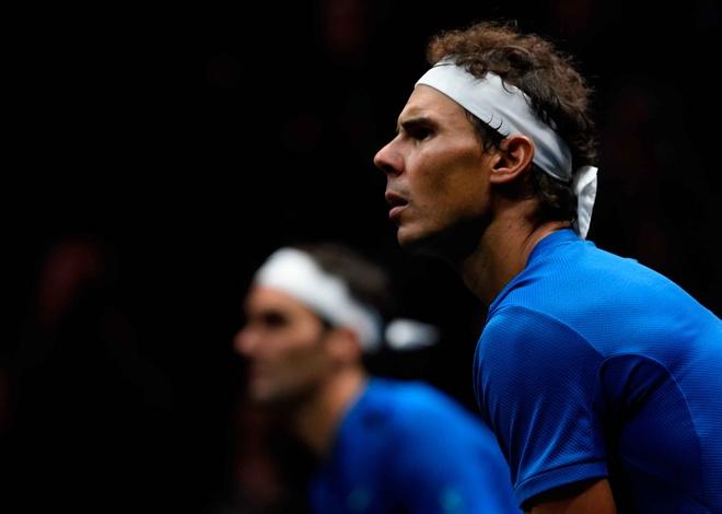 Highlights Federer va Nadal lan dau danh cap hinh anh