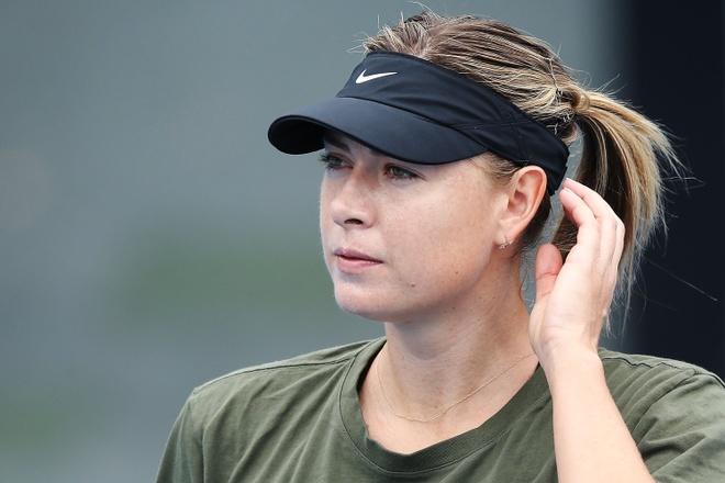 Sharapova hang say tap luyen cho tai xuat Australian Open hinh anh