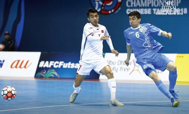 Thua Uzbekistan 1-3, futsal Viet Nam dung chan o tu ket hinh anh 1