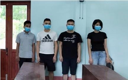 4 nguoi xuat canh trai phep sang Trung Quoc anh 1
