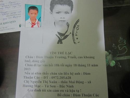 Be trai 10 tuoi o Bac Ninh mat tich bi an hinh anh
