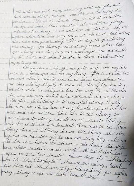 Nhung hoc sinh viet chu dep nhu in hinh anh 3 Duy Tân với bài viết chữ đẹp gây sốt (Ảnh: Tri thức Thời đại).