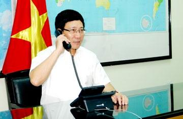 Pho thu tuong Pham Binh Minh dien dam Dai dien Cap cao EU hinh anh