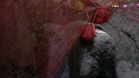 Phien da mang hinh san phu lam bon o ngoi den co hinh anh 1 Một góc của phiến đá.