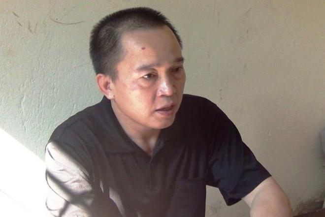 Nguyễn Thanh Sơn tại cơ quan công an TP Vinh.