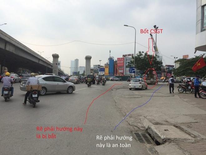 CSGT khang dinh khong co 'bay' o nga tu Ha Noi hinh anh