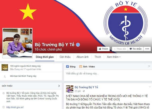 Bo truong Y te theo doi Facebook ca tren oto hinh anh 2