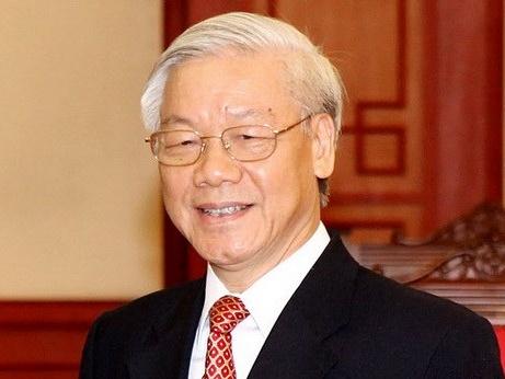 Tong bi thu Nguyen Phu Trong tra loi phong van bao chi My hinh anh