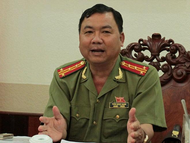 Vu cascadeur bi danh o vu truong khong lien quan xa hoi den hinh anh 1 Đại tá Trần Ngọc Hạnh chủ trì trả lời báo chí chiều 8/7.