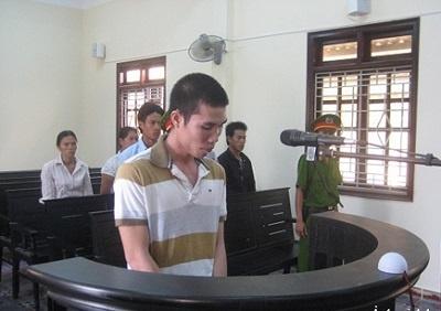 Bị cáo Quách Tiến Hồng tại phiên xét xử.