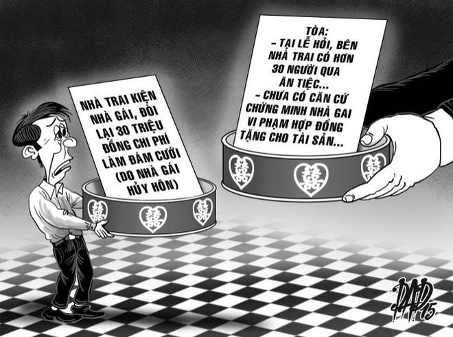 Nha trai doi tien hoi cuoi phu nhan danh dap 'co dau' hinh anh